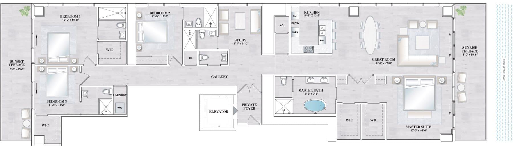 Elysee Edgewater Floor Plan C